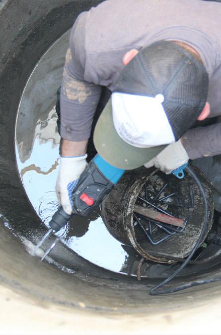 Как мы выполняем ремонт колодцев в Раменском районе